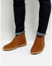 Farah - Lozza Suede Desert Boots - Lyst