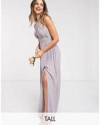 TFNC London Bridesmaid Exclusive Pleated Maxi Dress - Multicolor