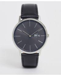 Lacoste Moon - Leren Horloge - Zwart