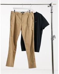 Hollister Pantalon chino - Kaki clair - Marron