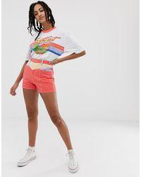 Wrangler Shorts vaqueros con costuras retro - Multicolor