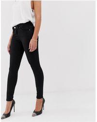ASOS Lisbon Mid Rise 'skinny' Jeans - Black