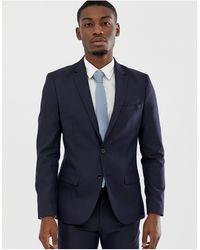 Celio* Giacca da abito slim blu navy