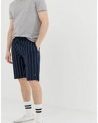 Jack & Jones Originals - Jersey Short Met Verticale Strepen - Blauw