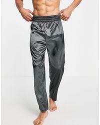 ASOS Lounge Satin Trousers - Grey