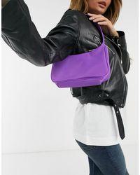 ASOS Фиолетовая Нейлоновая Сумка На Плечо В Стиле 90-х - Пурпурный