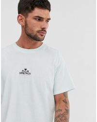 New Look - T-shirt With Palm Springs Embroidery In Mint - Lyst