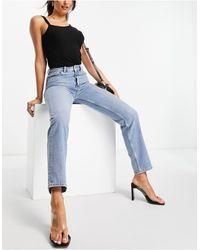 French Connection Mom jeans lavaggio azzurro - Blu