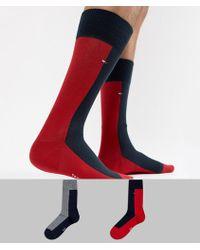Tommy Hilfiger - 2 Pack Half And Half Socks - Lyst