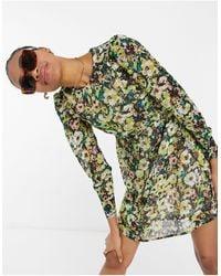 Vero Moda Mini Skater Dress - Green