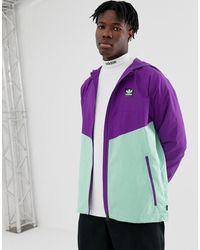 adidas Originals Фиолетовая Ветровка Со Вставками - Пурпурный