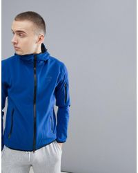 North Sails - Raymond Softshell Jacket With Double Hood In Blue - Lyst