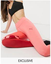 PUMA Красные Леггинсы С Розовыми Вставками Training Эксклюзивно Для Asos-розовый Цвет