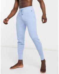 Polo Ralph Lauren Синие Джоггеры Из Вафельной Ткани С Логотипом -голубой - Синий