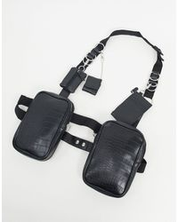 ASOS Modular Chest Harness - Black