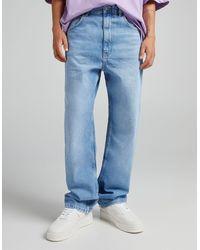 Bershka – baggy-jeans - Blau