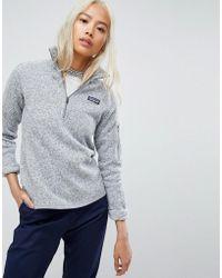 Patagonia - Better Jumper Half Zip Jacket In Grey - Lyst