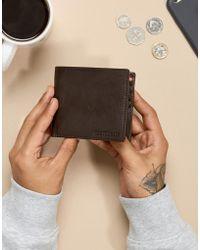 Paul Costelloe - Leather Wallet In Brown & Orange - Lyst