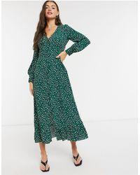 Whistles Платье Миди С Леопардовым Принтом -зеленый