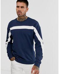 Only & Sons Sweatshirt Met Strepen - Blauw