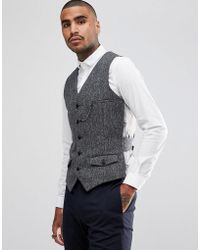 Noose And Monkey Woven In England Waistcoat - Grey