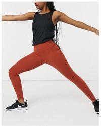 Nike Красно-оранжевые Леггинсы Длиной 7/8 Nike Yoga Luxe-оранжевый Цвет