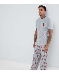 ASOS DESIGN - Pyjama Set In Dinosaur Print - Lyst