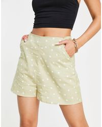 ASOS Linen Look Short - Green