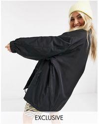 Collusion Unisex Oversized Coach Jacket - Black