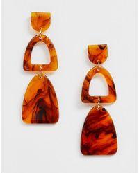 Nylon Boucles d'oreilles pendantes triangulaires en résine - Multicolore