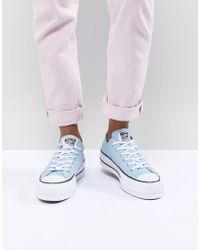 Lyst - Converse Marimekko All Star Premium High Top Trainers in Blue 3ac9e18e7