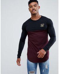 SIKSILK Long Sleeve Raglan T-shirt - Black