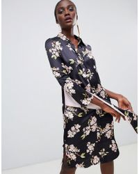 Finery London - George Floral Printed Shirt Dress - Lyst