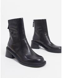 ASOS Черные Ботинки Из Премиум-кожи - Черный