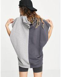 Reclaimed (vintage) Inspired Unisex Sleeveless Hoodie With Spliced Logo - White