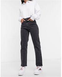 Tommy Hilfiger Jeans Met Extra Hoge Taille En Rechte Pijpen - Zwart