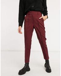 ASOS Pantalones sastre - Rojo