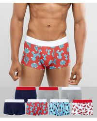 ASOS - Hipsters With Tropical Prints 7 Pack - Lyst