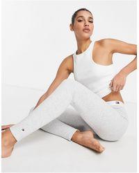 Tommy Hilfiger Organic Cotton Thermal Lounge leggings - Grey
