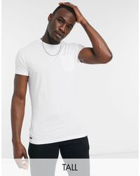 Threadbare Tall Basic Pocket T-shirt - White