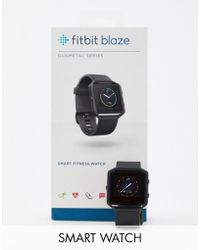 Fitbit - Blaze Smart Watch In Gunmetal - Lyst