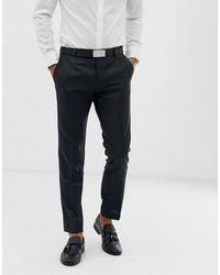 Calvin Klein Slim-fit Pantalon Met Textuur - Zwart
