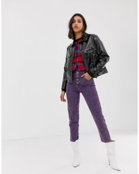 Stradivarius - Str Mom Jean In Purple - Lyst