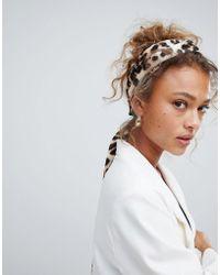 ASOS - Twist Block Headscarf In Leopard Print - Lyst