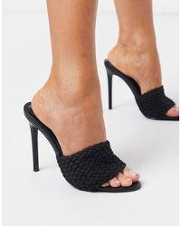 SIMMI Shoes Simmi London - Samia - Geweven Muiltjes - Zwart