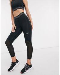 Nike Leggings negros capri Pro Training