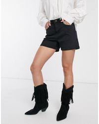 Vero Moda Denim Mom Short - Zwart