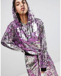 Jaded London - Festival All Over Sequin Hoodie - Lyst