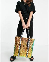House of Holland Tote bag avec poignées griffées - Arc-en-ciel chatoyant - Multicolore
