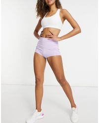 I Saw It First High Waisted Active Shorts - Purple